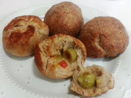 cheese-n-olive-wholewheat-bread-balls